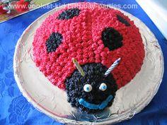 lady bug cake ,for my tiny bugg Bug Cake, Birthday Parties, Birthday Ideas, Birthday Cakes, Baby Girl 1st Birthday, Bread Cake, Childrens Party, Amazing Cakes, Yummy Treats