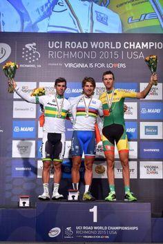 UCI Road World Championships 2015: Elite Men - Road Race Elite men's podium (Tim de Waele/TDWSport.com)