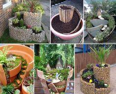 Mini jardins.