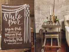wood wedding signs - photo by Continuum Wedding Photography http://ruffledblog.com/luce-loft-wedding
