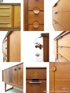 Beautiful mid-century furniture handle detail