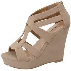 The Perfect Wedge- Taupe - BubbaJane's Boutique