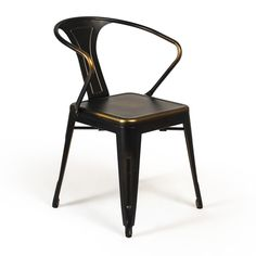Bastille Cafe Stacking Arm Chair (Antique Copper)