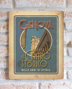 Genova - Visitate il Centro Storico | TARGA | Vimages - Immagini Originali in stile Vintage