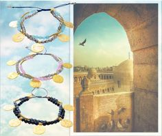 Strand Stone and Coin Friendship Bracelets by Azuni London
