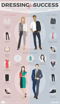 Dressing for Success [by SmartCenter -- via #tipsographic]. More at tipsographic.com
