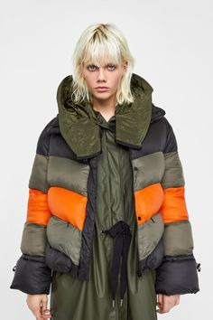 b9319860307b Image 5 of BLOCK COLOR PUFFER JACKET from Zara Puffer Jackets