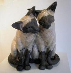 Twin Siamese Cats | John Noott Galleries