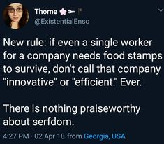 If a company makes millions in profit and still keeps their workers on minimum wage/hours: every too small meal, every day without a prober jacket, every time they have to drop going to the doctor - the list goes on and on - its whats paying for your 'profit'