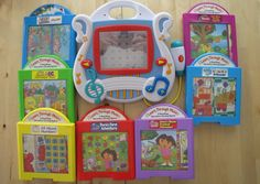 Fisher Price Learn Through Music Sing-Along Learning System w/ 7 Cartridges VG #FisherPrice
