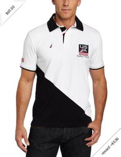 Nautica Men's Usa Twill Collar Polo Shirt