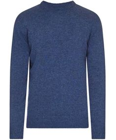 Men's Barbour Patch Crew Neck Lambswool Sweater - Charcoal
