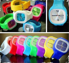 Silicone Watches with Interchangeable Faces - Perfect for Kids, Teens, & Adults! 8 Colors to Choose From!