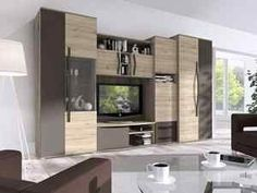 Verzo komplett szekrénysor és komód Modern Tv Wall, Living Room Tv Unit, New Room, Decorative Items, Family Room, Furniture, Home Decor, Houses, Decoration Home