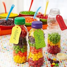 Let the kids make their own party favour bottle up