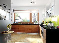 DOM.PL™ - Projekt domu AC Liv 3 G2 CE - DOM AF1-97 - gotowy koszt budowy Architecture Design, Residential Architecture, Amazing Architecture, Bungalow House Plans, Dream House Plans, Prefabricated Houses, Prefab Homes, Modern Kitchen Cabinets, Kitchen Cabinet Design