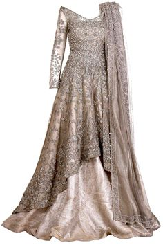Shop really regal Pakistani wedding dress in kundan net in elegant dull gold color at our online store For More Details Call / Whatsapp Us Now: Walima Dress, Shadi Dresses, Indian Dresses, Indian Outfits, Asian Wedding Dress, Muslim Wedding Dresses, Muslim Brides, Wedding Hijab, Vestidos