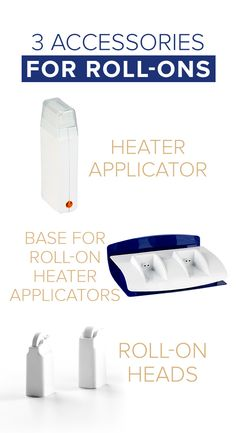 Roll-ons offer effective waxing with less hassle, and there are many accessories you can use for a practical application. Body Waxing, Wax Warmer, Learning, Accessories, Studying, Teaching, Onderwijs, Jewelry Accessories