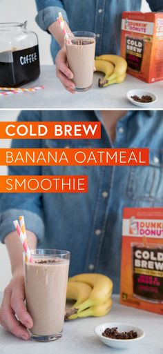 For a quick drink idea that brings the flavor—look no further than this Cold Brew Coffee Banana Oatmeal Smoothie recipe! Using the Dunkin' Donuts® Cold Brew Coffee Packs, almond milk, frozen bananas, almond butter, and more, you'll love enjoying a mid-day treat with this tasty coffee creation. Plus, you can find everything you'll need to try this recipe at Target!