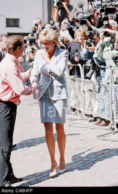 August 28, 1996: Diana, Princess of Wales on the day her divorce is finalized attending the English National Ballet lunch function.