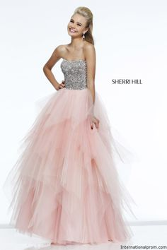 Tiered layered ballgown from Sherri Hill 11085