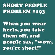 Eight years together and the hubs still does this sometimes :) #petite #short_girl #problems