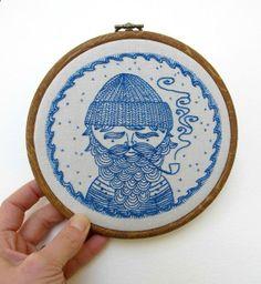 Sea Captain sampler pattern by Cozy Blue.