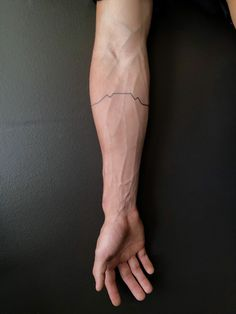 Table Mountain Outline Tattoo, Cape Town , South Africa