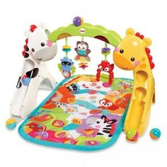 The Newborn-to-Toddler Play Gym is a three-in-one play gym that stays with baby from birth through the toddler years.