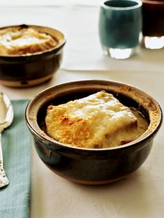 Country French Onion Soup with Golden Gruyère Cheese