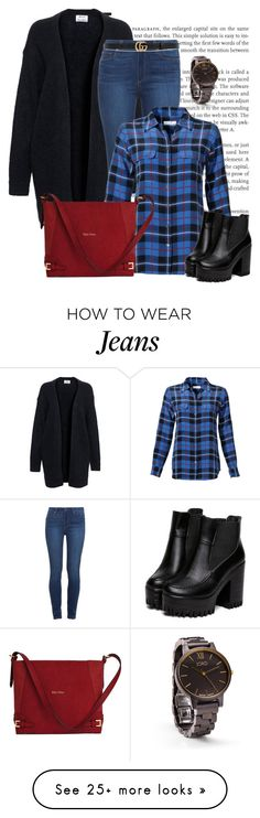 """xadrez"" by ebramos on Polyvore featuring Acne Studios, Paige Denim, Equipment and Gucci"
