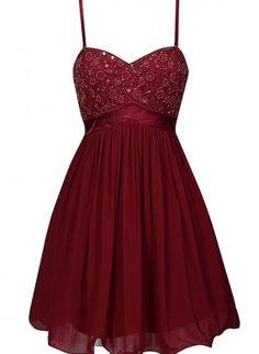 Burgundy Chiffon Lace Dress with Embellished Top,  Dress, sleeveless dress  embellished, Chic