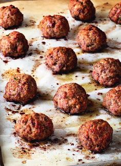 """The recipe for Roasted Italian Meatballs is from """"Cooking for Jeffrey,"""" Ina Garten's new cookbook."""