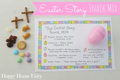 Happy Baby's class was having an Easter egg hunt last week and I really wanted to put an extra special spin on the eggs I was supposed to send in for his classmates. I love that each item in this Easter Story Snack Mix represents an important part of the story of Christ and the life of the …
