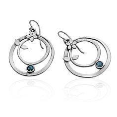 Classy, SHABLOOL 925 Sterling Silver Opal Blue Earrings (Gift-Wrapped) #Shablool #ChainLink
