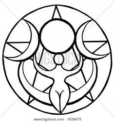 Find high quality printed Pagan Posters at CafePress. Shop posters in a variety of sizes and designs to find the perfect fit for your room. Triple Goddess Symbol, Goddess Symbols, Pagan Symbols, Pagan Art, Goddess Art, Moon Goddess, Celtic Mythology, Motif Baroque, Coloring Books