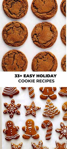 Try one of these delicious, sweet cookie recipes out in your kitchen tonight! You can even get the family involved with these easy holiday cookie ideas! Easy Holiday Cookies, Quick Cookies, Holiday Cookie Recipes, Sweet Cookies, Cookie Ideas, Holiday Baking, Sweet Treats, Holiday Foods, Holiday Desserts