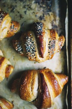 tartine croissants with rye and seeds (yossy arefi)