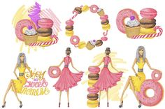 Girly Clipart Fashion Clipart Girls Clipart Sweet by ATArtDigital