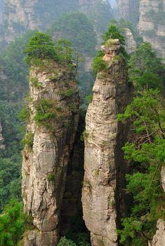 """Floating Mountains"" Hunan province, China"