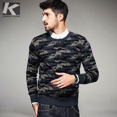Autumn Mens Fashion Sweaters 100% Cotton Camouflage Knitted Brand Clothing Man's Knitwear Pullovers Knitting Clothes