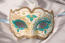 Masquerade Ball Masks - Venetian Masks - IRIS GOLD