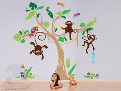 Jungle Gym Playroom -Monkey Tree with Parrot chld