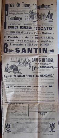 tauromaquia de pancho flores | Cartel para la tarde del 25 de junio de 1905. Plaza de toros de ...