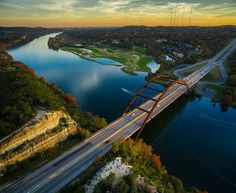 This golden hour shot of the 360 Bridge Overlook was taken over this first weekend of December. The trees were really beginning to show their fall colors and the weather couldn't have been better! There was a good crowd (pictured lower center) soaking in the stunning views of Lake Austin the Pennybraker Bridge and Austin TX in the distance. #360bridge #360bridgeoverlook #pennybackerbridge #austin #texas #austintx #atx #trueaustin #txig #dji #djimoments #djicreators #inspire1 #uav #uas…