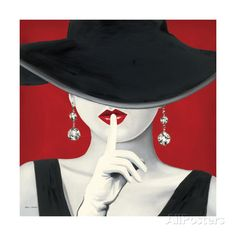 Haute Chapeau Rouge I Giclee Print at AllPosters.com