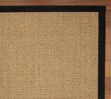 Front Mat: Color-Bound Sisal Rug Swatch, Black  nice neutral rug for under the table