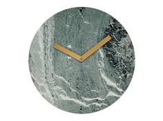 Cullen Wall Clock, Green Marble and Brass