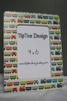 4x6 Train Frame by TipToeDesign on Etsy, $10.00