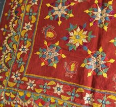 Gujrati embroidery from India